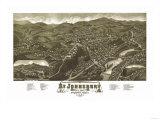 Saint Johnsbury, Vermont - Panoramic Map Posters