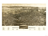 Saratoga Springs, New York - Panoramic Map Posters