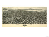 Tulsa, Oklahoma - Panoramic Map Posters by  Lantern Press