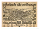 Vineland, New Jersey - Panoramic Map Posters