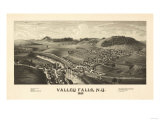 Valley Falls, New York - Panoramic Map Posters