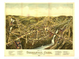 Thomaston, Connecticut - Panoramic Map Posters by  Lantern Press