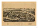 Schaghticoke, New York - Panoramic Map Print by  Lantern Press