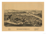 Schaghticoke, New York - Panoramic Map Print