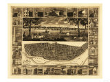 Saint Louis, Missouri - Panoramic Map Print