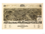 Staunton, Virginia - Panoramic Map Posters