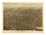 Utica, New York - Panoramic Map Posters by  Lantern Press