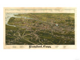 Stamford, Connecticut - Panoramic Map Posters