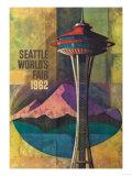 Seattle, Washington - Space Needle World's Fair Promo Poster No. 2 Poster von  Lantern Press