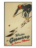 Germany - Downhill Skier Posters