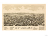 Schuylerville, New York - Panoramic Map Posters