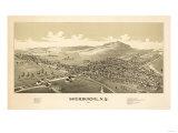 Sherburne, New York - Panoramic Map Poster by  Lantern Press