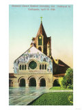 Exterior View of Memorial Church at Stanford U - Palo Alto, CA Prints by  Lantern Press