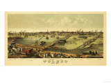 Toledo, Ohio - Panoramic Map Posters by  Lantern Press