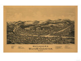 West Lebanon, New Hampshire - Panoramic Map Posters by  Lantern Press