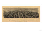 Saint Louis, Missouri - Panoramic Map Posters by  Lantern Press