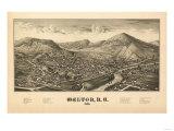 Walton, New York - Panoramic Map Poster by  Lantern Press