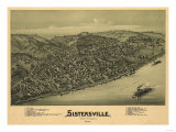 Sistersville, West Virginia - Panoramic Map Posters