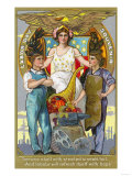 Labor Day Souvenir Laborers with Lady Justice Prints