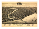 Sheboygan, Wisconsin - Panoramic Map Posters