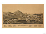 Warrensburg, New York - Panoramic Map Posters by  Lantern Press