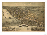 Wyandotte, Michigan - Panoramic Map Posters by  Lantern Press
