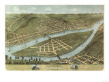 Wheeling, West Virginia - Panoramic Map Posters by  Lantern Press