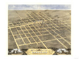 Sandwich, Illinois - Panoramic Map Posters