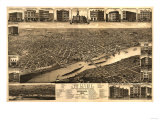 Saint Paul, Minnesota - Panoramic Map Posters