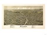 Sharon, Pennsylvania - Panoramic Map Posters