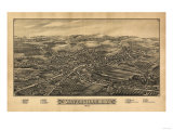 Waterville, New York - Panoramic Map Posters by  Lantern Press