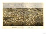 Springfield, Illinois - Panoramic Map Posters