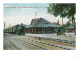 Exterior View of the Southern Pacific Depot - Stockton, CA Art by  Lantern Press