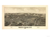 White Plains, New York - Panoramic Map Poster by  Lantern Press