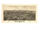White Plains, New York - Panoramic Map Poster