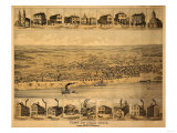 Tell City, Indiana - Panoramic Map Poster