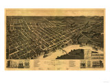 Selma, Alabama - Panoramic Map Poster