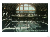 Interior View of the Bathing Pavilion - Santa Cruz, CA Prints by  Lantern Press