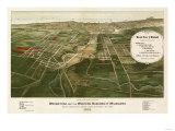 Wauwatosa, Wisconsin - Panoramic Map Posters by  Lantern Press