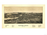 Sanford, Maine - Panoramic Map Posters by  Lantern Press
