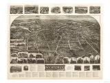 Westerly, Rhode Island - Panoramic Map Posters by  Lantern Press