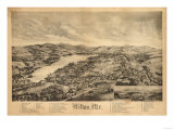 Wilton, Maine - Panoramic Map Posters