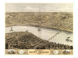 Saint Charles, Missouri - Panoramic Map Posters by  Lantern Press