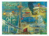 Seattle, Washington - Space Needle World's Fair Seattle Center Poster Posters by  Lantern Press
