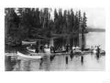 Crowd Boating and Bathing on the Lake - Payette Lake, ID Prints