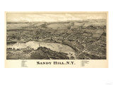 Sandy Hill, New York - Panoramic Map Poster by  Lantern Press