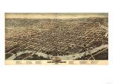 Wilmington, Delaware - Panoramic Map Poster