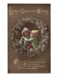 Loving Christmas Wishes - Little Kids Embracing Prints by  Lantern Press