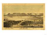 Winona, Minnesota - Panoramic Map Print by  Lantern Press