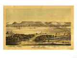 Winona, Minnesota - Panoramic Map Print